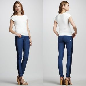 MOTHER DENIM Colorblock Looker Skinny Jeans